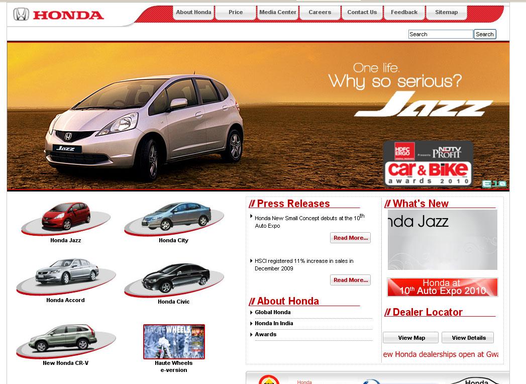 Kekurangan Web Honda Harga