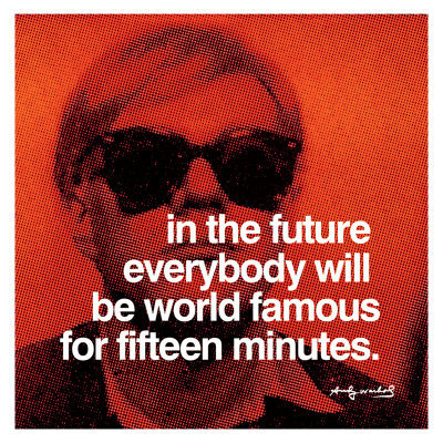 7edb81b56 Adding the dimension of time, to Warhol's 15 minutes of fame – 100 ...