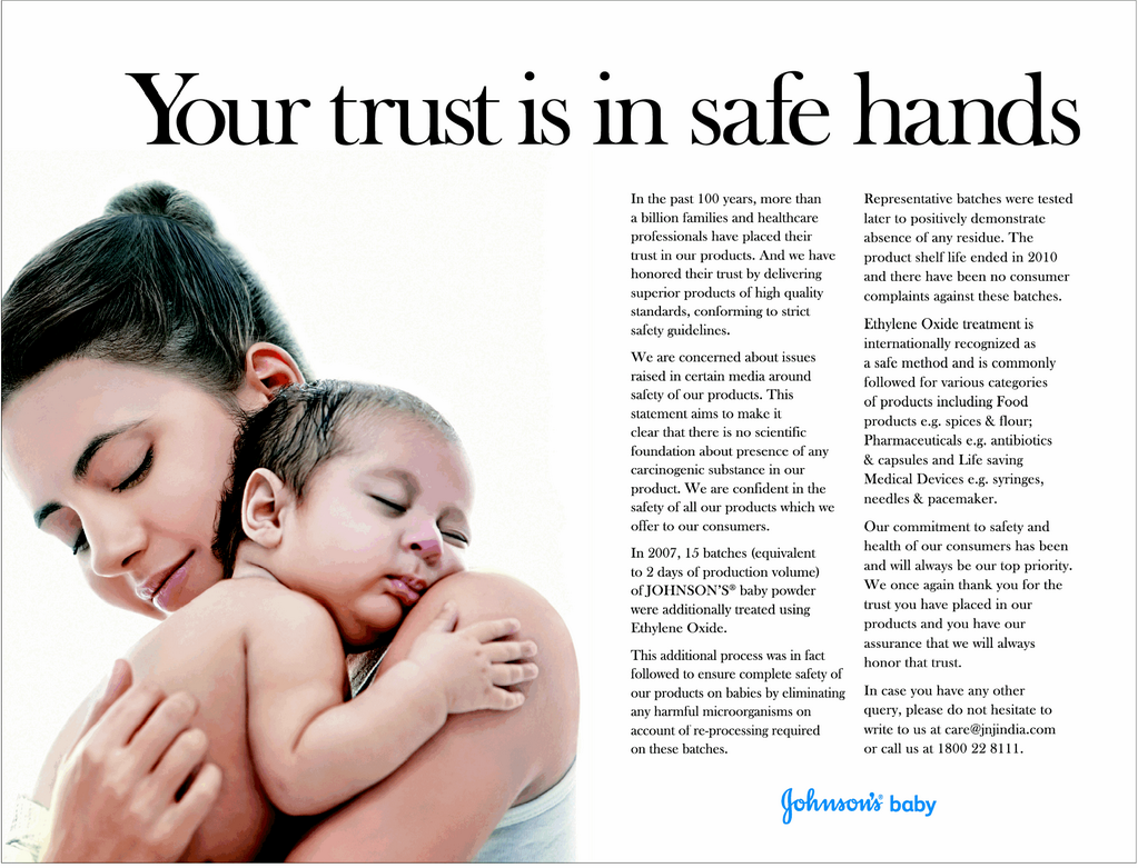Why Johnson & Johnson India's print ad today irked me