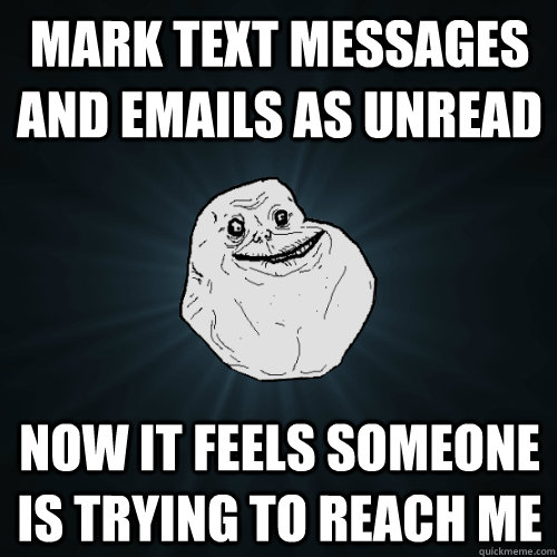 The other problem with phone text messages