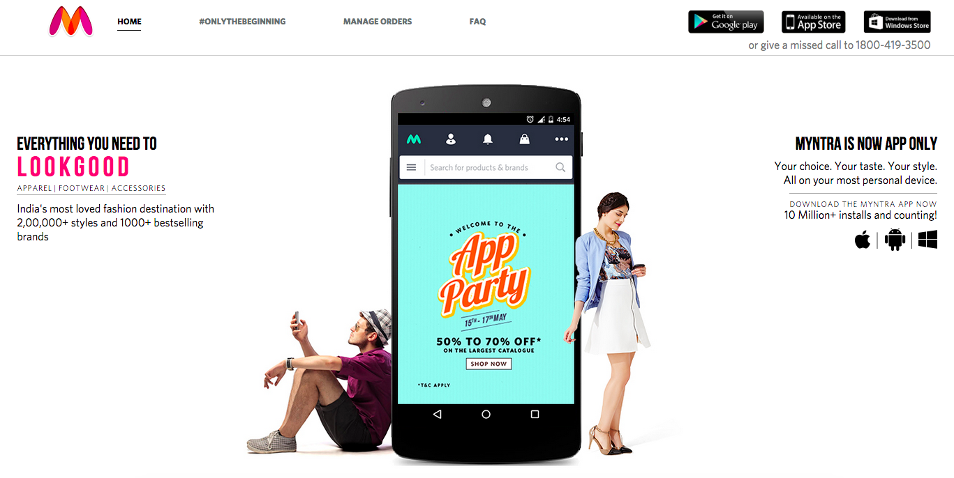 Why is Myntra's app-only communication lacking empathy?