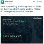 Native charity advertising - debating Freecharge's #NepalEarthquake relief effort