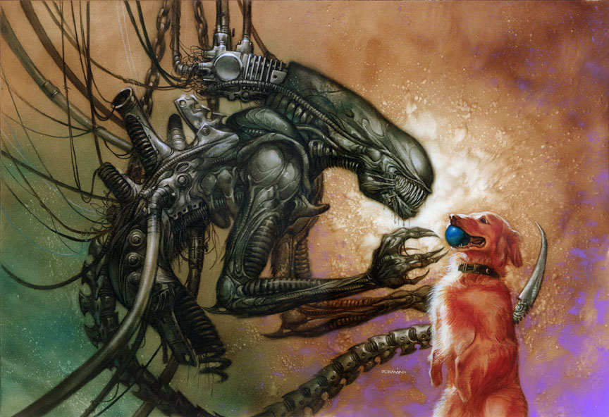 Humans, aliens and dogs!