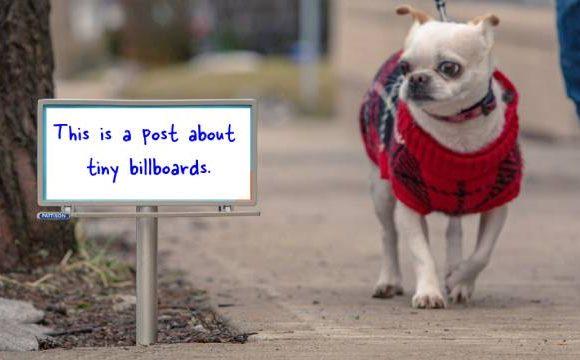 The tiny billboards movement